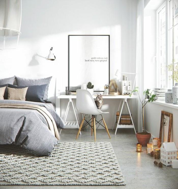 alfombra-gris-cama-pequec3b1a-lampara-estilo-escandinavo-2