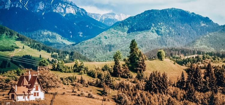 Transylvania mountain landscape